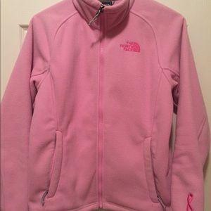 Women's, North Face, Fleece Jacket. Breast Cancer